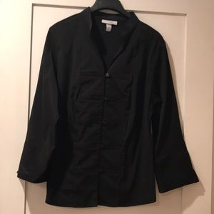 Dressbarn black stretchy blouse